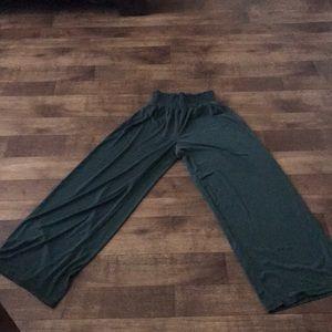 Jersey flowy pants